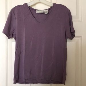 Dusty Purple Vneck Short Sleeve Tshirt